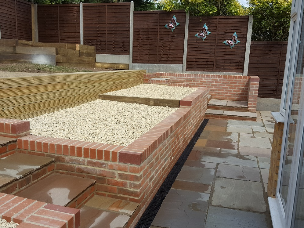 Retaining walls, paving, decking and fencing